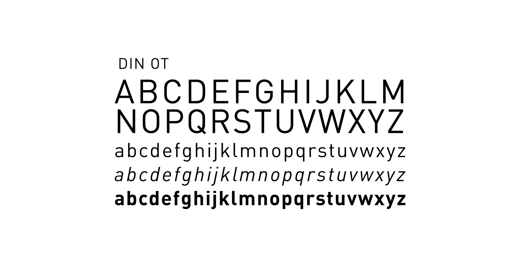 Download DIN Bold Free TrueType Font - fonts
